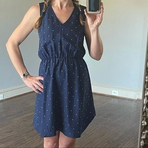 Tinley Road: navy with silver stud polka dot dress